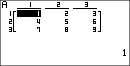 création d'une matrice Basic Casio 1