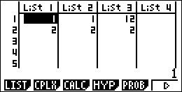 Listes vers matrice Basic Casio 1